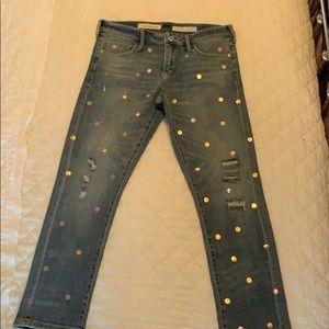 Metallic Polk-a-Dot jeans!! Too cute